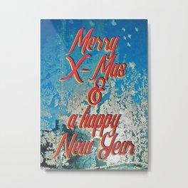 Merry X-Mas & a happy New Year Metal Print