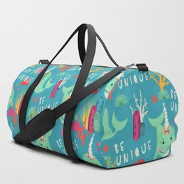 Narwhal Be Unique Pattern Duffle Bag