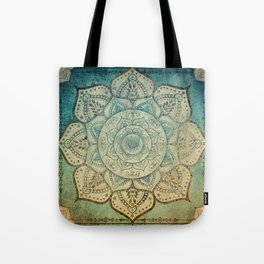 Faded Bohemian Mandala Tote Bag