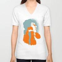 john green V-neck T-shirts featuring John Keats by thatonedude