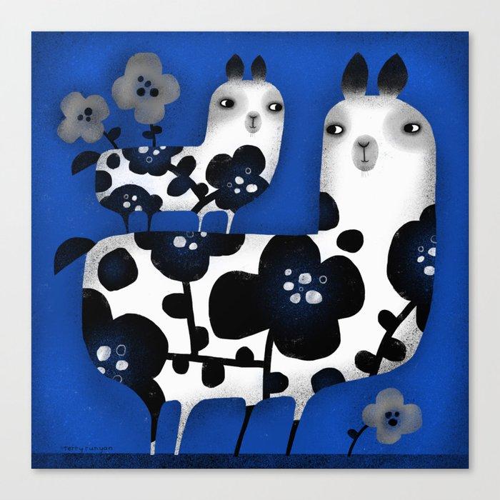 FLOWERED FRIENDS Canvas Print