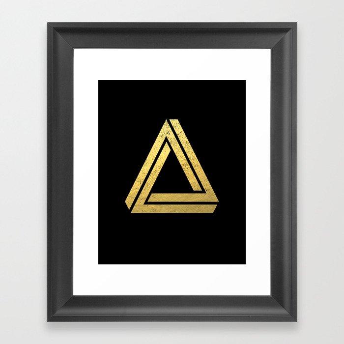 7ca4c4ac692c Penrose Triangle - Black and Gold