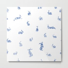 pattern with bunnies Metal Print