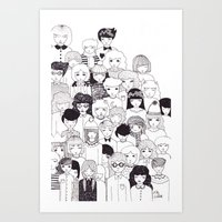 it crowd Art Prints featuring crowd  by Milly Scarlett