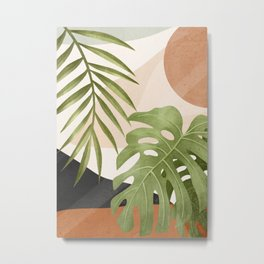 Abstract Art Tropical Leaves 21 Metal Print