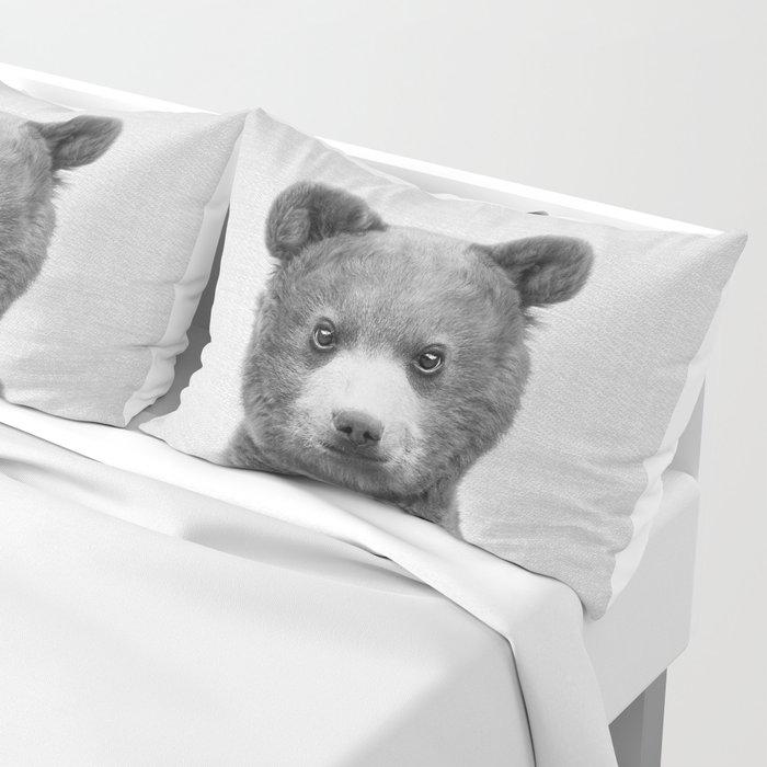 Baby Bear - Black & White Pillow Sham