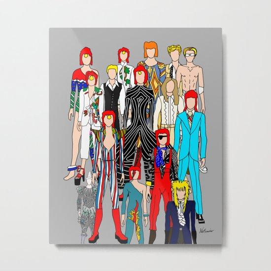 Bowie Doodle Metal Print