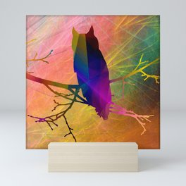 ap071 Bird on branch Mini Art Print