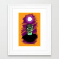 frankenstein Framed Art Prints featuring Frankenstein  by JT Digital Art
