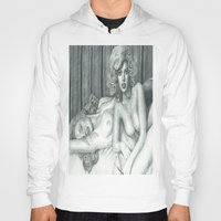 lindsay lohan Hoodies featuring Lindsay Lohan and Marilyn Monroe's PLAYBOY together by Jimmy Lee