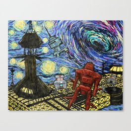 Starry Black Hole Canvas Print