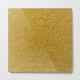 Shiny Glitter, Sparkling Glitter Glow - Gold Metal Print