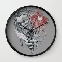 wizard Wall Clocks featuring Wizard by 2mzdesign