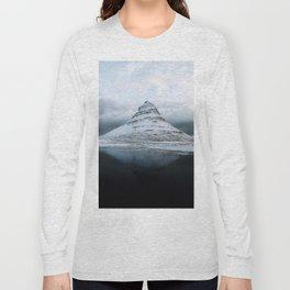 Kirkjufell Mountain in Iceland - Landscape Photography Long Sleeve T-shirt