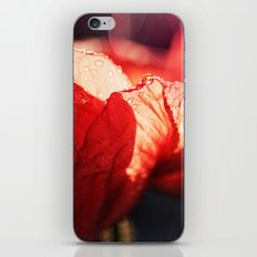 Passion - Expressionistic red poppy macro photo iPhone & iPod Skin