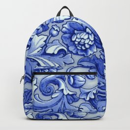 Blue and White Porcelain Backpack