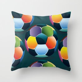 Colorful Soccer Ball Throw Pillow