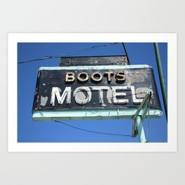 Route 66 - Boots Motel 2010 Art Print