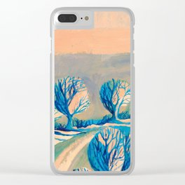 Lighted trees Clear iPhone Case