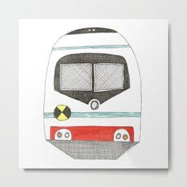 Retro Train Metal Print