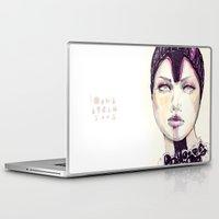 fashion illustration Laptop & iPad Skins featuring Fashion illustration  by Ioana Avram