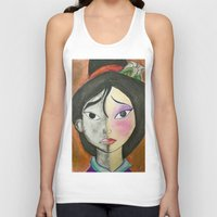 mulan Tank Tops featuring Mulan by Jgarciat