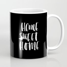 Home Sweet Home watercolor modern black and white minimalist typography home room wall decor Coffee Mug