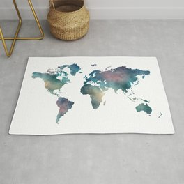 Colorful world map Rug