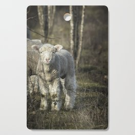 Winter Lamb Cutting Board