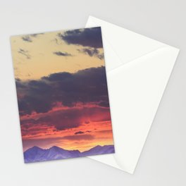 Crazy Mountain Sunset Stationery Cards