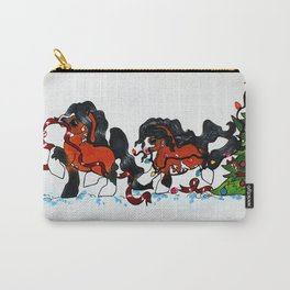 Christmas Tree Ponies  Carry-All Pouch