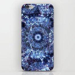 Iris Mandala Blue iPhone Skin