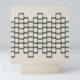 Stacks of Rectangles, Charcoal Gray on Cream Mini Art Print