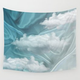 """""""Blue pastel sweet heaven and clouds"""" Wall Tapestry"""