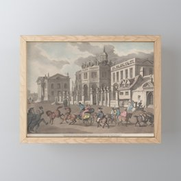 View of the Theatre, Printing House &c. Oxford 1810 Framed Mini Art Print