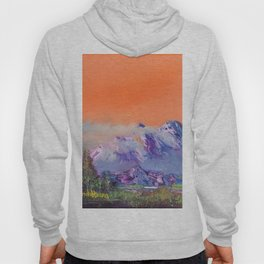 Mountains landscape. Diptych Hoody