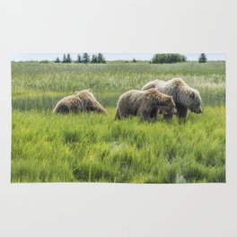 A Mother and Her Two Cubs, No. 2 Rug