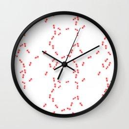 Fire Ant Pattern Wall Clock