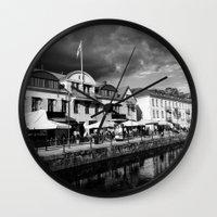 sweden Wall Clocks featuring Sweden by alexaxm
