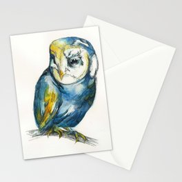 Teal Barn Owl Stationery Cards