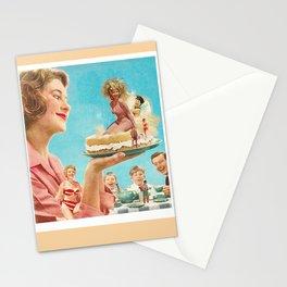 """Retro """"Beach cake"""" Stationery Cards"""