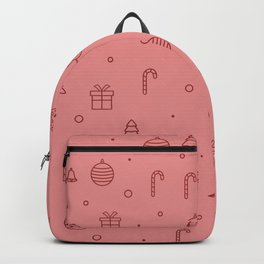 Pink christmas pattern Backpack