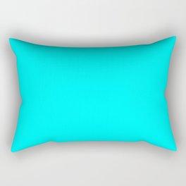 Cyan Rectangular Pillow