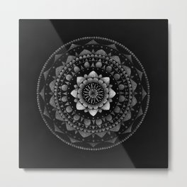 Stippled Mandala Metal Print
