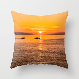 Finish of the day Throw Pillow