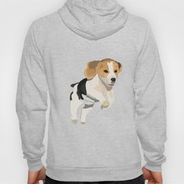 Beagle Art, beagle puppy, digital painting Hoody