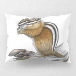 Chipmunk and mushrooms Pillow Sham