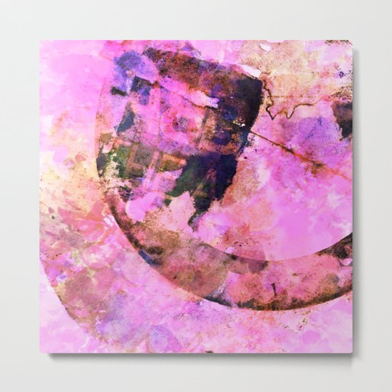 abstract floral in pink Metal Print