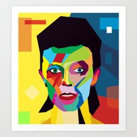 bowie Art Prints featuring bowie by mark ashkenazi