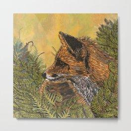 Ferny Fox Metal Print